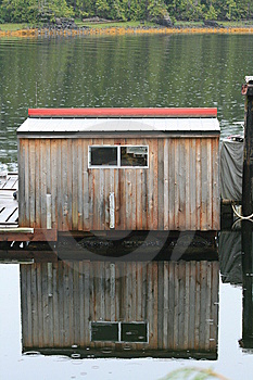 Boathouse In The Rain Stock Image - Image: 6117901