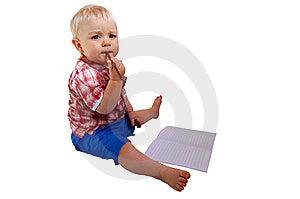 Beautiful Baby Boy Royalty Free Stock Photo - Image: 6119565