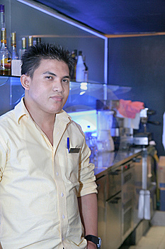 Bartender At Work Royalty Free Stock Photography - Image: 6120277