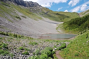 Alpine Lake And Meadows Stock Photos - Image: 6120953