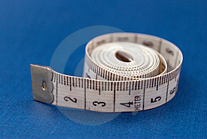 Centimeter On Blue Stock Photos - Image: 6121303