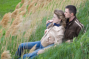 Guy And Girl In Canes Royalty Free Stock Photo - Image: 6121395