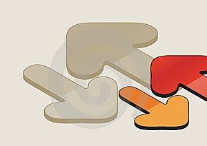 Arrows Background Stock Image - Image: 6123041