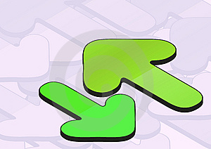 Green Arrows Background Stock Photography - Image: 6123042