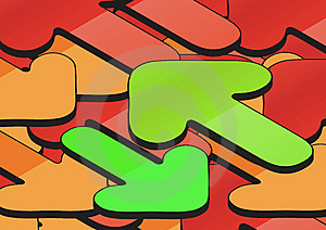 Arrows Background Stock Images - Image: 6123044