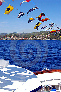 Flags On Board Royalty Free Stock Images - Image: 6124529