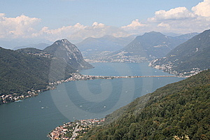 Lugano Lake Stock Photography - Image: 6125182