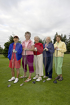 Elderly Golfers Stock Photos