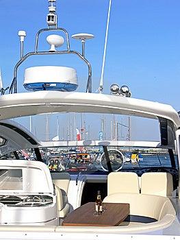 Luxury Motorboat Equipment Royalty Free Stock Photos - Image: 6126928