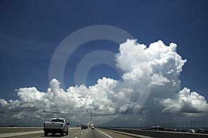 Entering Sunshine Skyway Bridge Royalty Free Stock Photography - Image: 6127817