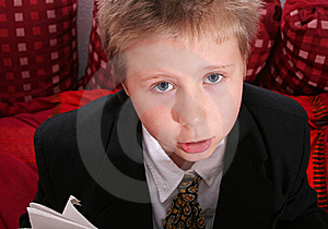 Sad Little Boy Royalty Free Stock Photography - Image: 6128177