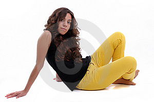 Young Beautiful Woman Posing Stock Photography - Image: 6130712