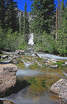 The Hidden Falls In Grand Teton Royalty Free Stock Photos - Image: 6131718