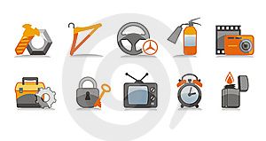 Industry Icons Set Stock Photography - Image: 6132472