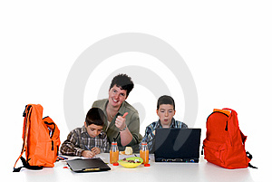 Boys Doing Homework Royalty Free Stock Photo - Image: 6132745