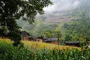 Cottage Of The Dulong Nationality Royalty Free Stock Photography - Image: 6136677