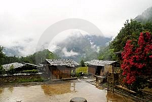 Cottage Of The Dulong Nationality Royalty Free Stock Photography - Image: 6136687