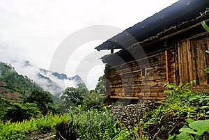 Cottage Of The Lisu Nationality Stock Image - Image: 6136701