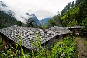 Cottage Of The Dulong Nationality Stock Images - Image: 6136704