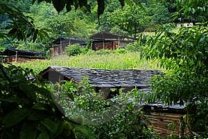 Cottage Of The Dulong Nationality Royalty Free Stock Photos - Image: 6136708