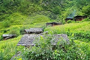 Cottage Of The Dulong Nationality Stock Images - Image: 6136724