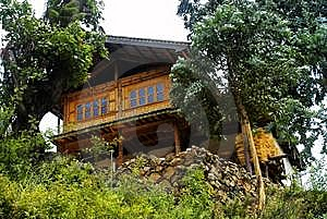 Cottage Of The Naxi Nationality Royalty Free Stock Photos - Image: 6136738