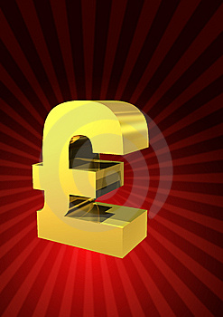 Golden Pound Symbol Royalty Free Stock Images - Image: 6136749