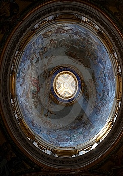One Of The Small Dome In St. Peter's Basilica Stock Image - Image: 6137591