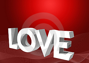 3d Love Text Stock Image - Image: 6137641