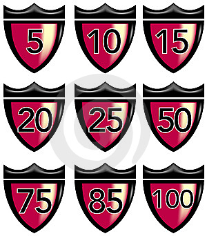 Crest With Numbers Stock Image - Image: 6139651