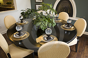 Dining Table With Modern Decor. Stock Image - Image: 6140401