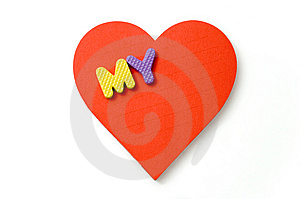 Heart And Foam Letters Stock Image - Image: 6141831