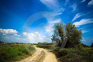 Road To The Blue Royalty Free Stock Photos - Image: 6142748