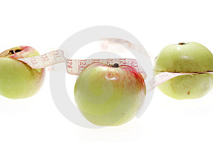 Apples And Measuring Tape Stock Photography - Image: 6145292