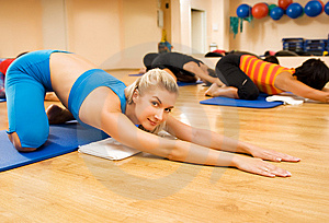 Beautiful women exercising Stock Images