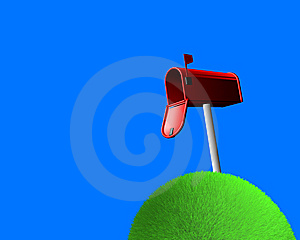 Mailbox On Sphere Of Grass Stock Photo - Image: 6146830