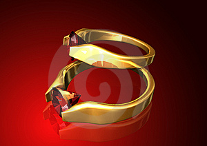 Ruby Rings Background Royalty Free Stock Photos - Image: 6147198