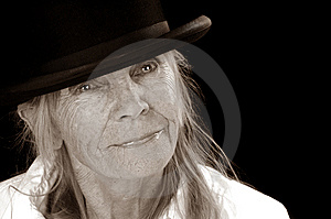 Woman In Bowler Hat Stock Images - Image: 6147674