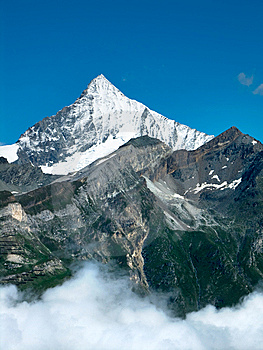 Weisshorn In Alps Mountains Royalty Free Stock Image - Image: 6147846