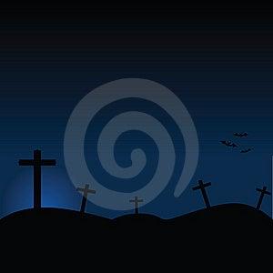 Halloween Cemetery Royalty Free Stock Photo - Image: 6150515