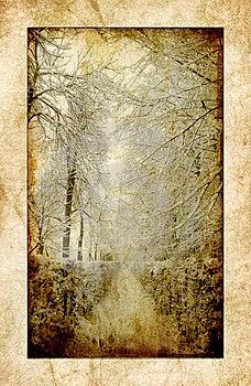 Vintage Winter Royalty Free Stock Photo - Image: 6154735