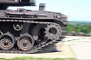 Tank In Motion Royalty Free Stock Photography - Image: 6157437