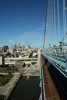 City From A Bridge Royalty Free Stock Photo - Image: 6157695