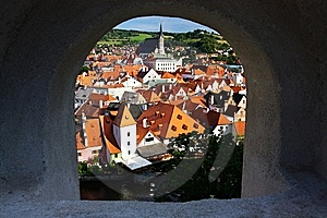 Cesky Krumlov Seen From Its Castle Royalty Free Stock Photography - Image: 6162587