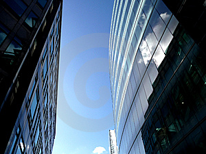 Glass Windows On Modern Building 4 Stock Photos - Image: 6162763