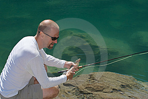 Fly Fisherman Stock Image - Image: 6166941
