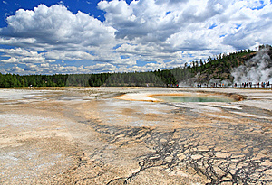 Midway Geyser Basin In Yellowstone Stock Photo - Image: 6169200