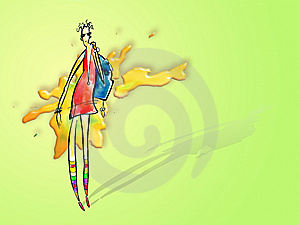 Dziewczyna Modna Fotografia Stock - Obraz: 6169282