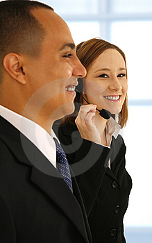 Customer Service Working In Office Royalty Free Stock Image