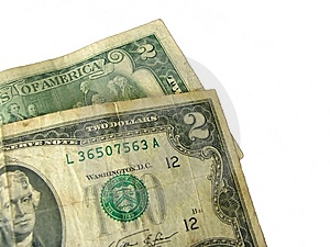 Couple O Two Dollar Banknotes Royalty Free Stock Image - Image: 6171076